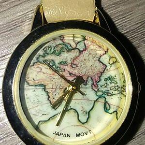 WORLD MAP GENEVA WATCH